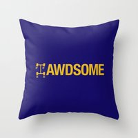 audi Throw Pillows featuring AWDSOME v1 HQvector by Vehicle