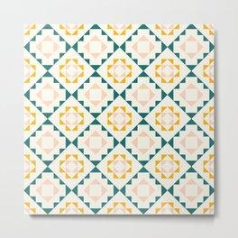 Colorful tribal geometric pattern Metal Print