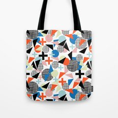 Kimbah - abstract art print shapes modern geometric retro cool colorful hipster gift idea dorm room  Tote Bag
