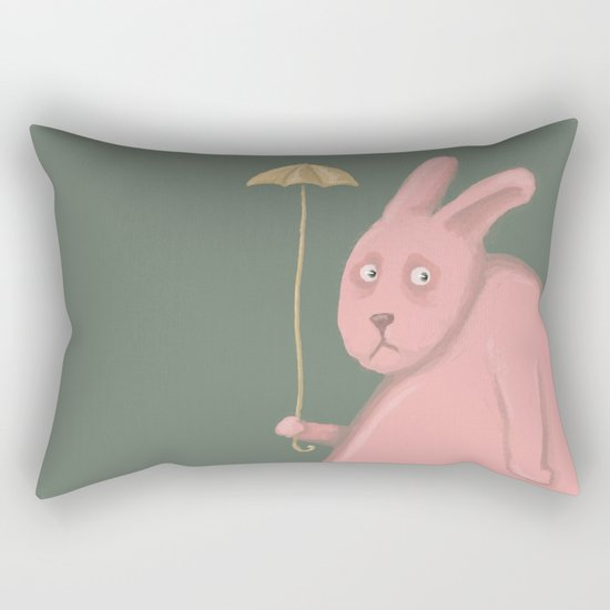 Sad Bunny  Rectangular Pillow