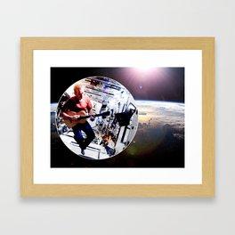 Space Oddity - ISS Chris Hadfield Framed Art Print