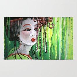 Geisha in Willows: The Arrogant Concubine Rug