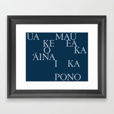 Hawaii (in Hawaiian) Framed Art Print
