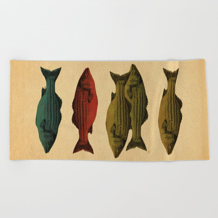 One fish Two fish... Beach Towel