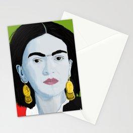 Frida  Green background Stationery Cards