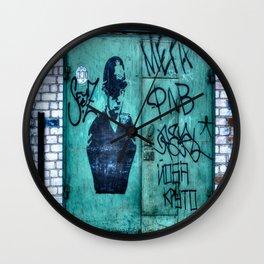 English Policeman Street Art Graffiti Tags Wall Clock