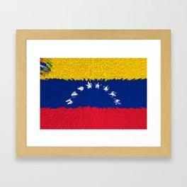 Extruded flag of Venezuela Framed Art Print
