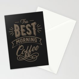 The Best Morning Coffee Stationery Cards