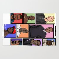 league of legends Area & Throw Rugs featuring HipHop Legends by Akyanyme