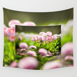 Bellis perennis pomponette called daisy Wall Tapestry