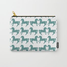 BLUE KISSING HORSES Pop Art Carry-All Pouch