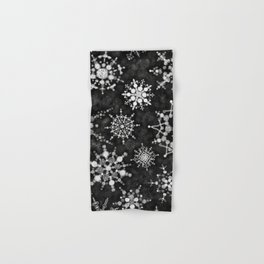 Gray Snowflakes Hand & Bath Towel
