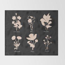 Wildflowers Throw Blanket