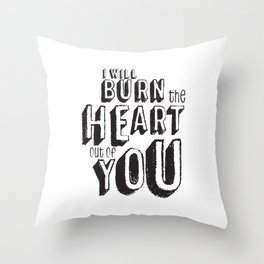 Moriarty Quote, I'll burn the heart out ouf you, Sherlock Decor Throw Pillow