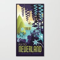 neverland Canvas Prints featuring Neverland by Mario Graciotti