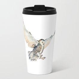 Arctic Snowy Owl Travel Mug