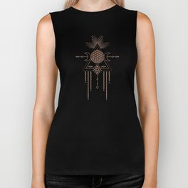 Mandala Flower of Life Rose Gold Pink Biker Tank