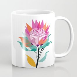 Protea Illustration; Botanical; Australian Native Coffee Mug