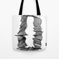 portal Tote Bags featuring Portal by JOSEPH KARWACKI