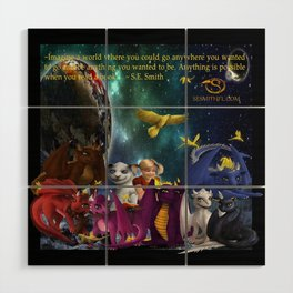 Dragonlings Space Party Wood Wall Art