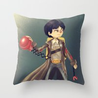 goonies Throw Pillows featuring Data From The Goonies by Peerro