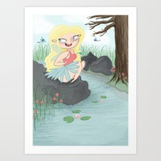 Pond Fairy Art Print