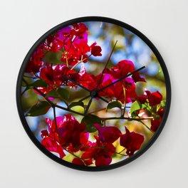 Bougainvillea I Wall Clock
