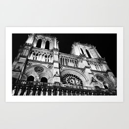 Night at Notre Dame Art Print