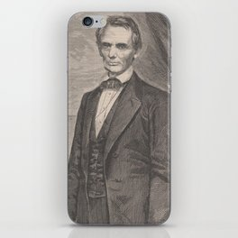 Vintage Abraham Lincoln Illustrative Portrait (1860) iPhone Skin