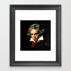 Beethoven - Music Demon Framed Art Print
