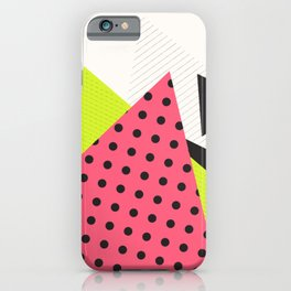 Jacksonville 1988 Memphis Throwback Retro 1990s 80s Trendy Hipster Pattern Neon Polka Dot iPhone Case