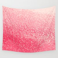 coral Wall Tapestries featuring CORAL by Monika Strigel®