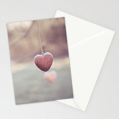 Frosted Hearts Stationery Cards