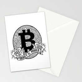 Bitcoin & Cryptocurrency Money Is Power Stationery Cards