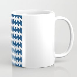 jaggered and staggered in monaco blue Coffee Mug