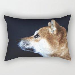 Portrait of Shiba Inu Rectangular Pillow