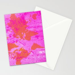 COME WITH ME AROUND THE WORLD (HOT PINK) Stationery Cards
