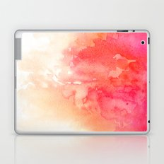 Watercolor red art Coral decor Modern illustration Peachy print Abstract flow Pink stain art print Laptop & iPad Skin