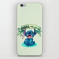 ohana iPhone & iPod Skins featuring Ohana by KanaHyde