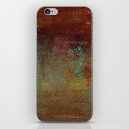 Copper, Gold, and Turquoise Textures iPhone Skin