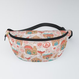 Gingerbread Candy Land Gingerbread Candy Landon pink Fanny Pack