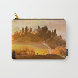 golden tuscan villa glow up tint landscape art nature photography Carry-All Pouch