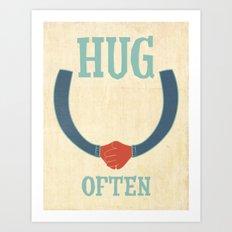 hug often Art Print
