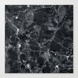 Black marble texture Canvas Print
