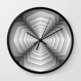 3D Spiral Metal Wall Clock