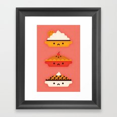 Pies Framed Art Print