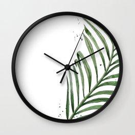 Palm Leaf Illustration Wall Clock