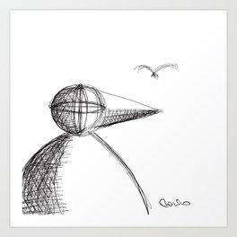 Metaphysical Penguin 2 Art Print