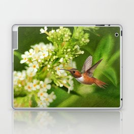 The Hummer and the Butterfly Bush Laptop & iPad Skin