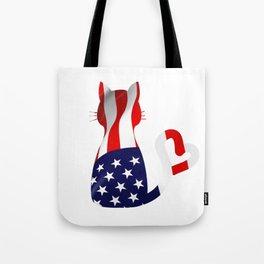 Usa Cat Tote Bag